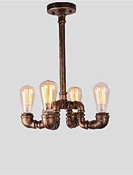 cheap -4 Heads Vintage Industrial Pipe Simple Loft Iron pipe Pendant Lights Living Room Dining Room Kitchen Cafe Hallway