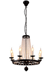 cheap -LightMyself 8 Lights Chandelier Modern/Contemporary Traditional/Classic Rustic/Lodge Tiffany Vintage Retro Lantern Drum Country Island Globe Bowl