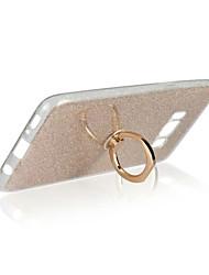 cheap -For Samsung S8 Plus S8 Cover Case Ring Holder Back Cover Case Glitter Shine Soft TPU S7 Edge S7