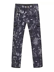 Men's Women's Unisex Camouflage Hunting Pants Thermal / Warm Camouflage Bottoms for Hunting M L XL XXL XXXL