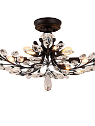 cheap -LightMyself 8 Lights Flush Mount Modern/Contemporary Traditional/Classic Vintage Retro Country Painting Feature for Crystal LED Living Room Bedroom