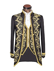 cheap -Prince Cosplay Costume Jacket Masquerade Men's Christmas Halloween Carnival New Year Festival / Holiday Halloween Costumes Black Solid