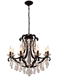 cheap -LightMyself 8 Lights Crystal Chandelier Modern/Contemporary Traditional/Classic Rustic/Lodge Tiffany Vintage Retro Lantern Drum Country Painting