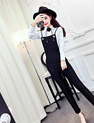 Sign 2017 spring new Korean fashion wild solid color cultivating long-sleeved shirt