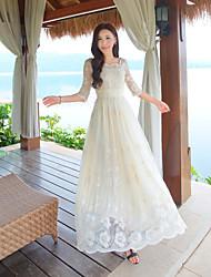 знак ретро цветок позиционирования вышивки duolei си фея юбка платье темперамент