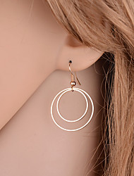 cheap -Women's Drop Earrings Jewelry Basic Simple Style Double-layer Alloy Round Jewelry For Party Daily Casual