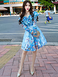 Dai Claudel new winter are not the same paragraph of the United States flounced collar back strapless lace dress female tide