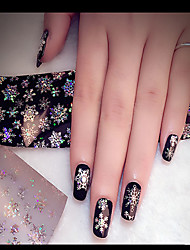 cheap -1PC The Stars Stick Transfer Printing Applique Iridescence Snow Nail Stick Bottled 4cm*120cm