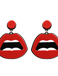 Women's Drop Earrings Unique Design Acrylic Fashion Statement Jewelry Acrylic Jewelry Lips Jewelry For Wedding Party Daily Casual Sports