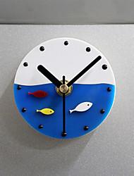 Plastic Magnet Clock Refrigerator Kitchen Wall Clock Fish Design Plastic Fish Refrigerator Magnet