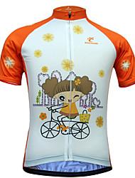 JESOCYCLING Maglia da ciclismo Per donna Manica corta Bicicletta Maglietta/Maglia Top Asciugatura rapida Resistente ai raggi UV Zip