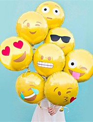 8 Pcs /Set Emoji Balloon 18 Inch Foil Balloon Hot Bubble Balloons Party Decoration Home