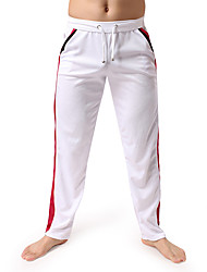 Men's Running Pants Breathable Pants / Trousers Bottoms for Exercise & Fitness Leisure Sports Running Cotton Loose White Black Dark Blue