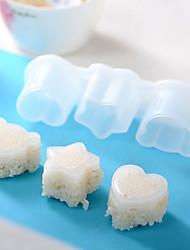 1 Pças. Bolas de arroz Utensílio para Sushi For Para utensílios de cozinha para o arroz PlásticoAlta qualidade Multifunções Gadget de