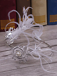 Liga de pena headpiece-casamento ocasião especial casuais tiaras headbands 1 peça