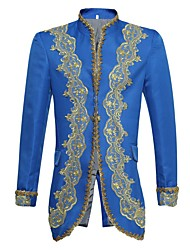 cheap -Prince Fairytale Cosplay Costume Halloween Props Masquerade Men's Halloween Carnival New Year Festival / Holiday Halloween Costumes Blue