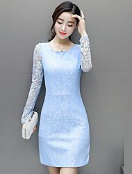 signe du printemps version coréenne des nouvelles jupes de hanche paquet automne robe en dentelle à manches longues mince mince 2017