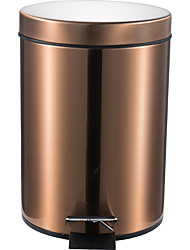 cheap -12L Round Stainless Steel Padel Slow Type Muted Trash Can Fingerprint Resistant Ash Can Garbage Can