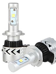 economico -2x kit di conversione h7 fari con chip di lampadine fari bridgelux pannocchia 2x 36W LED 7200LM conducente