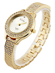 cheap -Women's Wrist Watch Quartz Cool Stainless Steel Band Analog Casual Fashion Elegant Gold - Gold
