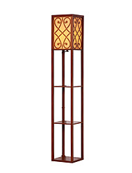 cheap -Nut-brownFloor Lamp for Multifunctional Goods Racks with on/off Switch