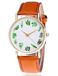 Damen Modeuhr Armbanduhr Quartz Leder Band Cool Bequem Kreativ Schwarz Weiß Braun Weiß Schwarz Braun