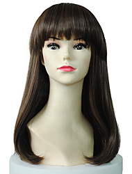cheap -Natural Curly Wig Synthetic Fiber Wig Hairstyle With Neat Bangs For Women