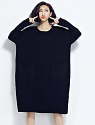 Sign loose solid color cotton jacquard bubble sleeve head dress large size women in Europe and America 2016