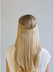 Недорогие -16-22 дюйма 100% человеческих волос скрытые невидимые провода ручной работы человеческих волос расширение 100 г (ширина 25 см)