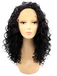 Black Root Lace Front Synthetic Wigs Kinky Curly Hair Purple Ombre Wig Heat Resistant Fiber Hair for Woman