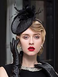 Chapéus de fascinadores de pena de linho Chapéu Estilo clássico feminino