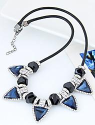 Women's Statement Necklaces Rhinestone Triangle Shape Glass Alloy Euramerican Fashion Jewelry For Party Birthday 1pc