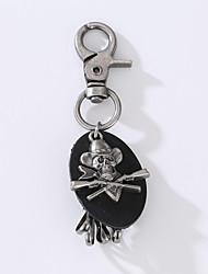 O novo punk do vintage vintage cowhide anel chave anel de pirata chaveiro para decorar a decoração