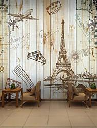 Géométrique 3D Fond d'écran pour la maison Rétro Revêtement , Toile Matériel adhésif requis Mural , Couvre Mur Chambre