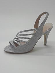 Da donna-Sandali-Matrimonio Ufficio e lavoro Serata e festa-Anello per dita del piede Club Shoes-A stiletto-Lustrini-