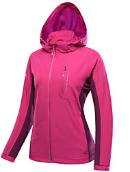 cheap -LEIBINDI Women's Hiking Softshell Jacket Outdoor Waterproof Quick Dry Windproof Dust Proof Breathable Jacket Top Double Sliders Camping /