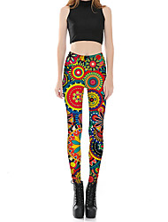 cheap -Women's Plus Size Skinny Chinos Pants Floral Print