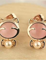 Women's Stud Earrings Drop Earrings Synthetic Opal Imitation Pearl Basic Unique Design Logo Style Animal Design Geometric Friendship Punk