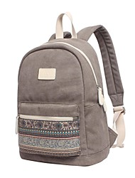 "cheap -Canvas Bohemian Style Mixed Color Backpacks 15"" Laptop"