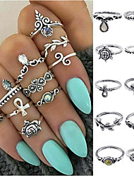 cheap -Women's Alloy Ring Set - Vintage Gold Silver Ring For Daily