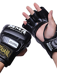 Boxhandschuhe für Boxen Fingerlos Schützend Nylon Leder Weiß Schwarz Rot
