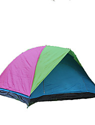 cheap -HUILINGYANG 4 person Backpacking Tent Double Layered Poled Dome Camping Tent Outdoor Waterproof, Moistureproof, Windproof for Hiking / Camping / Outdoor Fiberglass, Oxford