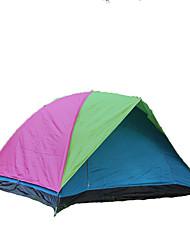 baratos -HUILINGYANG 4 pessoas Tenda Dupla Camada Barraca de acampamento Ao ar livre Tenda Dobrada Prova-de-Água / Á Prova de Humidade / A Prova
