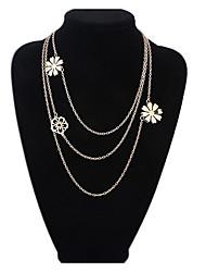 Femme Pendentif de collier Colliers chaînes Collier multi rangs Bijoux Bijoux Alliage Basique Animal Stras Naturel Amitié Simple Style
