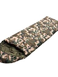 Недорогие -Спальный мешок на открытом воздухе Прямоугольный 0 °C Односпальный комплект (Ш 150 x Д 200 см) Пористый хлопок Компактность Сохраняет тепло для Пешеходный туризм Походы