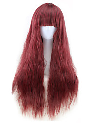 Fashion Sexy Women Red Color Wig Ombre Natural Wave Heat Resistant Synthetic Wigs High Quality