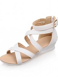 economico -Per donna Scarpe Finta pelle PU (Poliuretano) Estate Autunno Comoda Innovativo Club Shoes Scarpe formali Sandali Footing Quadrato Punta