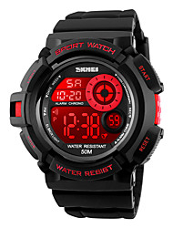 cheap -SKMEI® 1222 Men's Woman Watch Double Significant Outdoor Sports Watch Mountain Climbing Waterproof Electronic Watch Male LED Students Multi-Function
