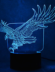 cheap -Eagle Turtles Touch Dimming 3D LED Night Light 7Colorful Decoration Atmosphere Lamp Novelty Lighting Light