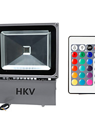 cheap -HKV 100W LED Floodlight Adjustable Easy Install Waterproof Wall Outdoor Lighting Garage/Carport Storage Room/Utility Room RGB AC 85-265V